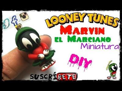 Marvin el Marciano Miniatura. Looney Tunes. Arcilla Polimérica. Tutorial. DIY