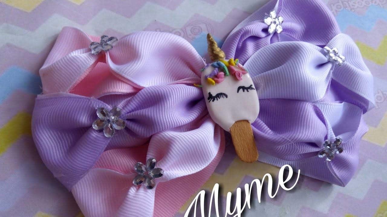 Moño fácil y bonito. easy bow.tutoriales.DIY.manualidades.craft.lazos.cintillos