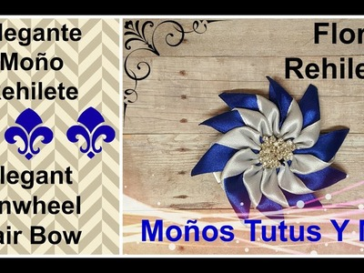 MOñO REHILETE DE SATIN Paso a Paso PINWHEEL HAIR BOW Tutorial DIY How To PAP Video 184