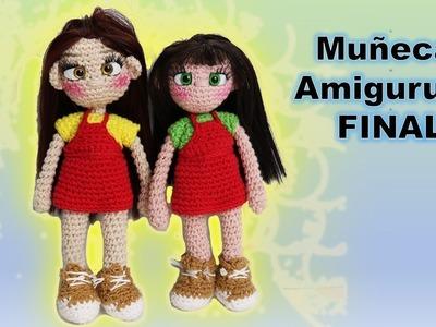 Muñeca amigurumi a crochet paso a paso, tutorial parte 3 DIY
