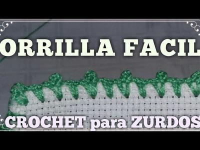 Orilla facil #8 Crochet para zurdos