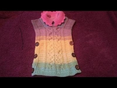 Poncho a crochet paso a paso parte #3