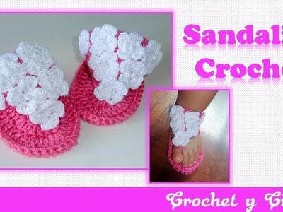 Sandalias de verano para bebés a Crochet – Parte 1