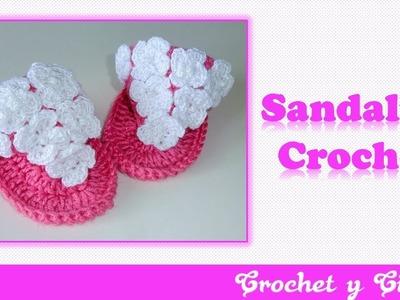 Sandalias de verano para bebés a Crochet – Parte 2