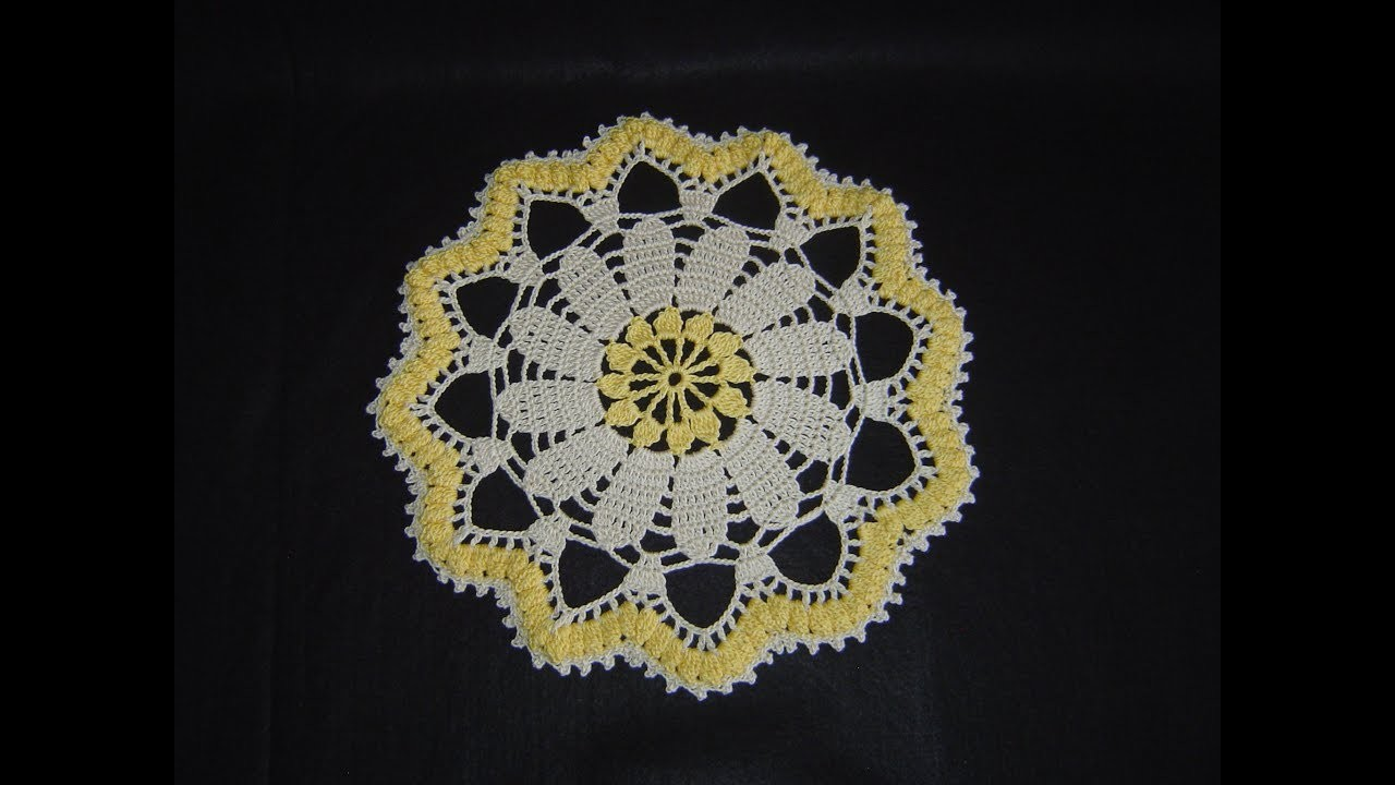Tapete, carpeta, servilleta en crochet paso a paso DIY tutorial completo
