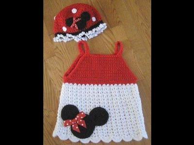 Vestido en crochet personajes disney