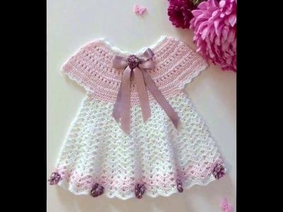 Vestido niña tejido en crochet Ganchillo