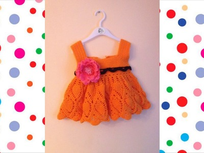 Vestido para niña tejido a crochet o ganchillo parte 1
