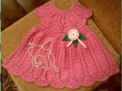 Vestidos a crochet para niña de 3 años