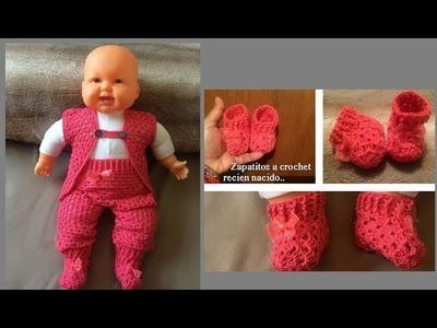 Zapatitos a crochet recién nacido ????( todas las tallas)