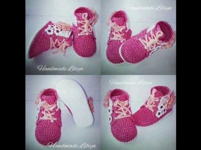 Zapatos bebe a crochet