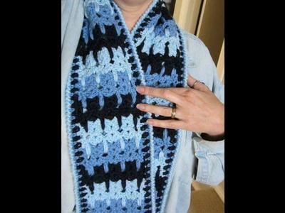 Chal tejido en crochet