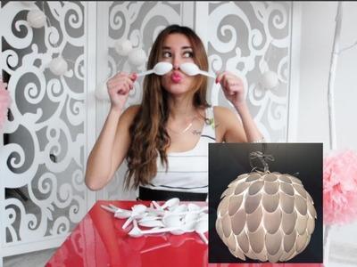 Cómo hacer una lámpara con cucharas de plástico? DIY home decor