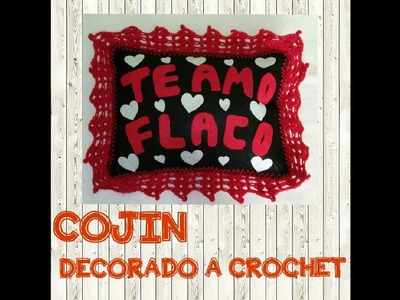 COJIN DECORADO A CROCHET - Manualidades La Manita Feliz