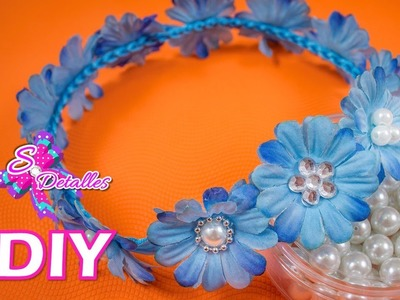 Como hacer Tiaras: Tiaras de Flores Artificiales | Video# 38 | SDetalles | DIY