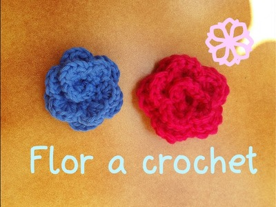 Cómo hacer una flor de ganchillo | How to make crochet flower