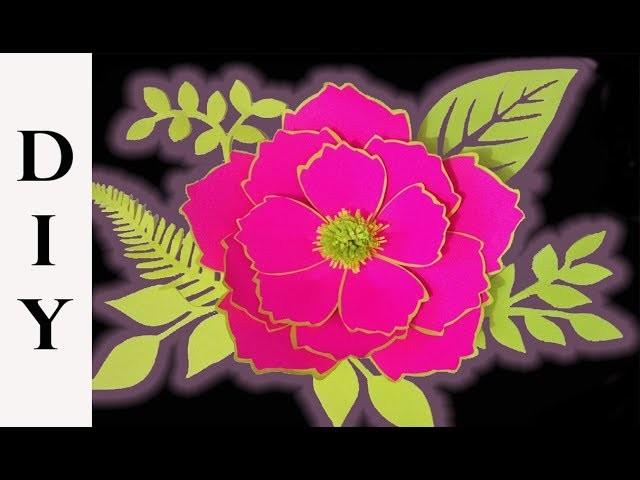 Como hacer una flor de papel decorativa | DIY paper flower tutorial