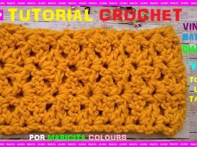"""Cómo tejer Bella VINCHA  a Crochet """"Vania"""" por Maricita Colours"""