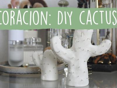 DIY Cactus: decoración.organizador de anillos