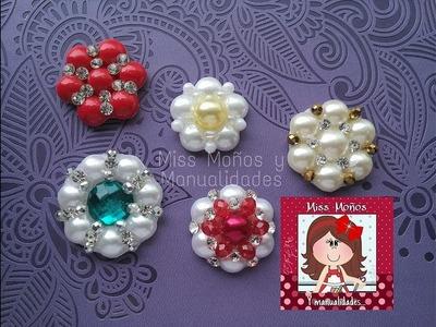 DIY Centros de Medias Perlas ***Centers with half pearls