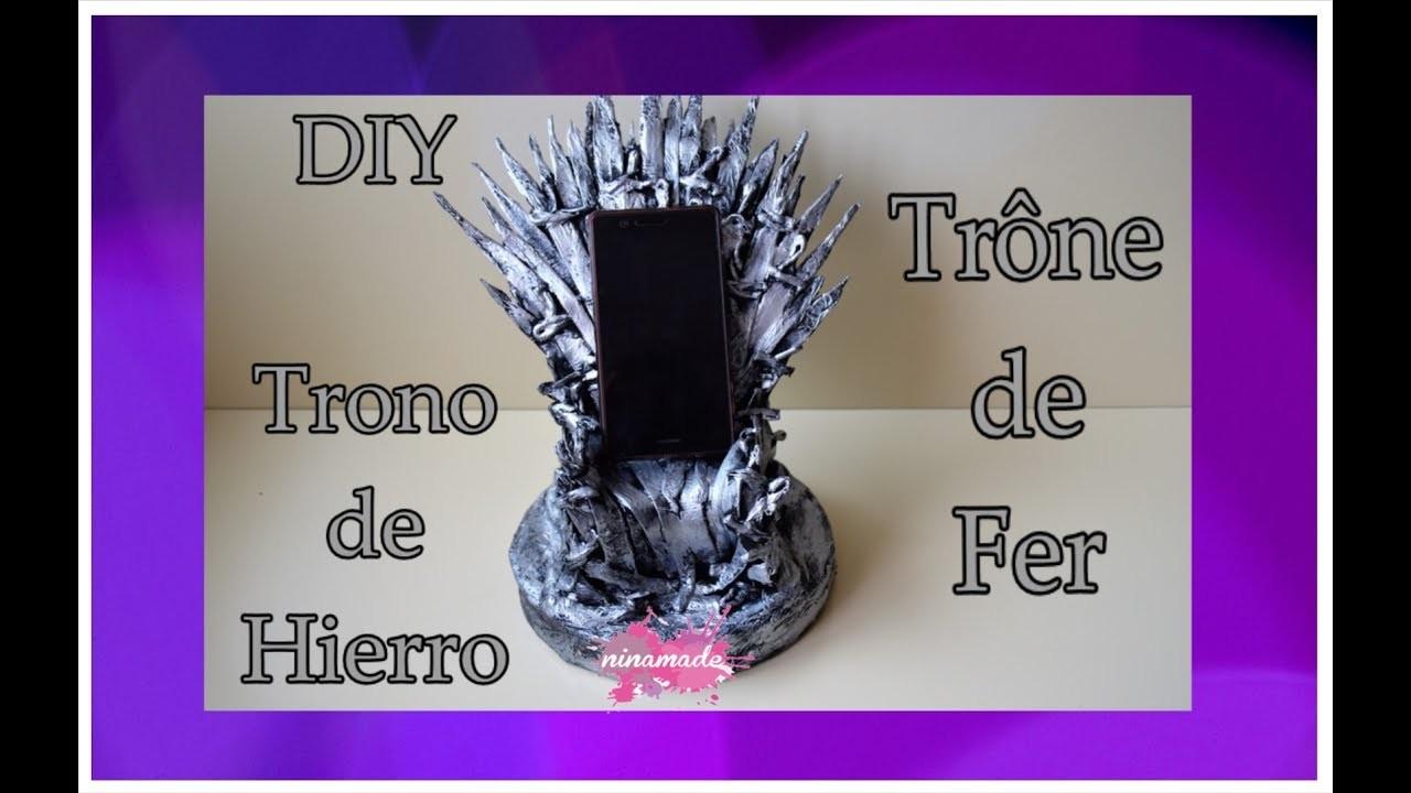DIY.Como Hacer  El Trono De Hierro.Comment Faire Le Trône De Fer.How To Make Iron Throne.