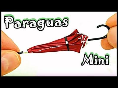 Diy Cómo Hacer Miniatura de Paraguas Para Barbie Y Otras Muñecas l Manualidades Con Papel House Toy