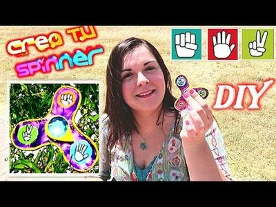 DIY: Cómo hacer un Fidget Spinner con el juego de piedra papel y tijera ✊✋✌ FÁCIL Y RÁPIDO.