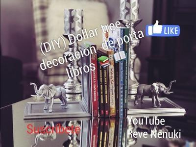 (DIY) Dollar tree .  Decoración de porta libros ???? muy fácil y elegante ????????????????????????