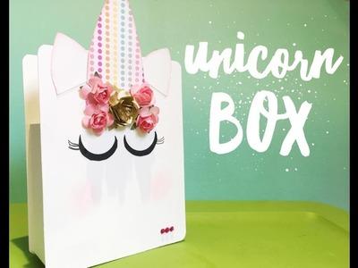 DIY Easy Unicorn Favor.Gift Box