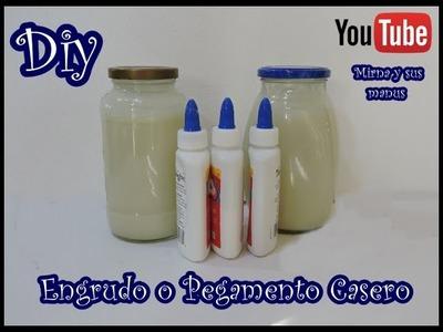 Diy  Engrudo o Pegamento Casero Mirna y sus manus. Diy Homemade glue paste