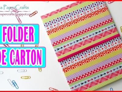 DIY Folder de Cartón Grande con Bolsillos | Manualidades Regreso a Clases | Luisa PaperCrafts