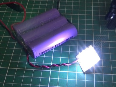 DIY: Lampara LED a 12 Volts DC