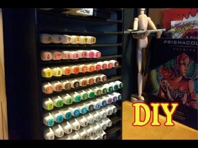 DIY - Organizador de cartón para marcadores -  Paper board storage for markers