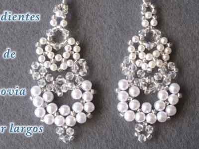 # DIY -Pendientes de novia super largos - Super long wedding earrings