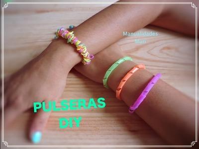 DIY Pulseras con Pajitas! # Las Pulseras de Moda de este Verano #