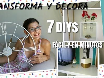 DIY Transforma y Decora tu habitación fácil y rápido | LOW COST | ROOM DECOR