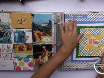 """Documentando """" Mi Primera decada de vida"""" Como hacer un scrapbook * Creaciones Izzy"""