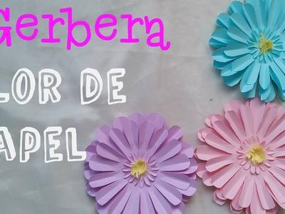 Flor de papel DIY Gerbera
