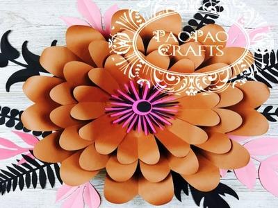 Flor gigante de papel | Moldes GRATIS | Flores de papel | Giant paper flowers
