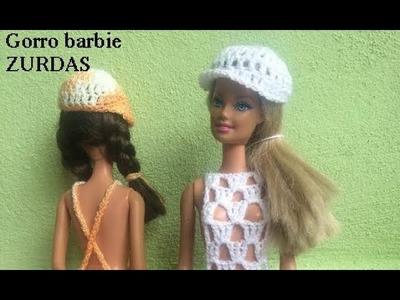 Gorra para Barbie a crochet.  ZURDAS