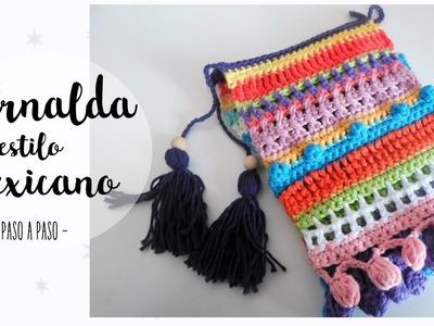 Guirnalda estilo mexicano a crochet | crochet garland tutorial