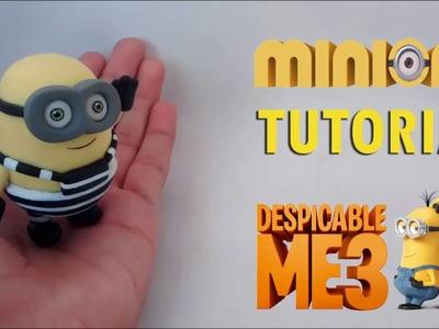 How to make Minion Despicable Me 3 Polymer Clay Tutorial | Como hacer un Minion en Porcelana Fría