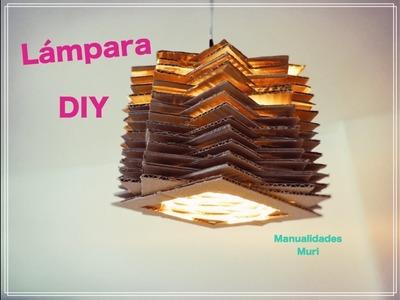 ⭐ Lámpara de Cartón en forma de Estrella ⭐ DIY muy fácil