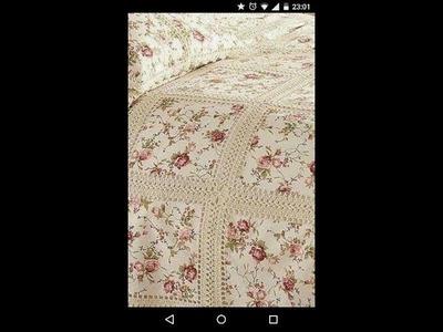 Lindas mantas bordadas con motivos y puntillas de encaje de crochet