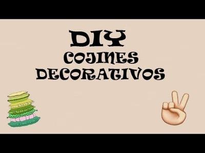 MANUALIDADES, DECORACION,  ¡SUPER FACIL¡ Cojines Decorativos - DIY