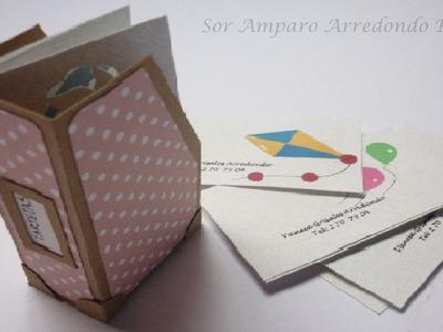 Manualidades: Mini archivador  fácil y rápido scrap DIY ♥
