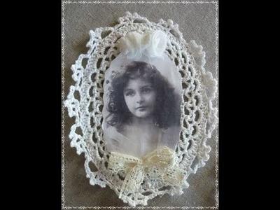 Marcos de fotos o portafotos tejidos a crochet