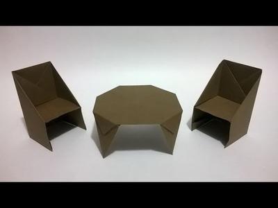 Origami Mesa o Comedor de papel -  Origami paper table