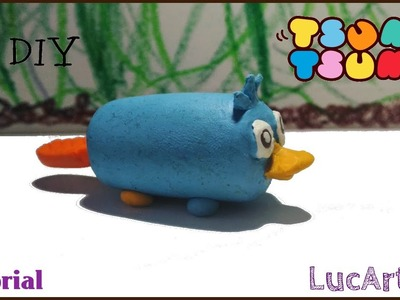 Perry the Platypus Tsum Tsum Disney Polymer Clay Tutorial | Phineas & Ferb | Perry  porcelana fría
