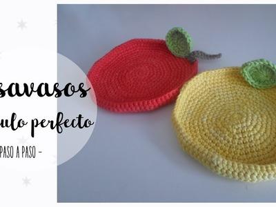 Posavasos a crochet + círculo perfecto | easy crochet coasters